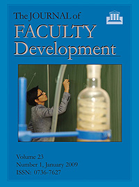 The Journal of Faculty Development Institutional Subscriptions