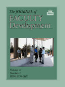 The Journal of Faculty Development Back Issues